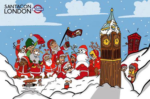 Which Organization Tracks Santas Flight On Christmas Eve.London Santacon 2019 Santacon Info
