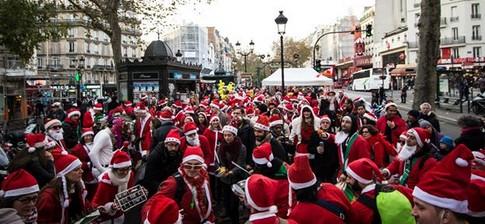Image result for SantaCon Paris December 2018 flyer